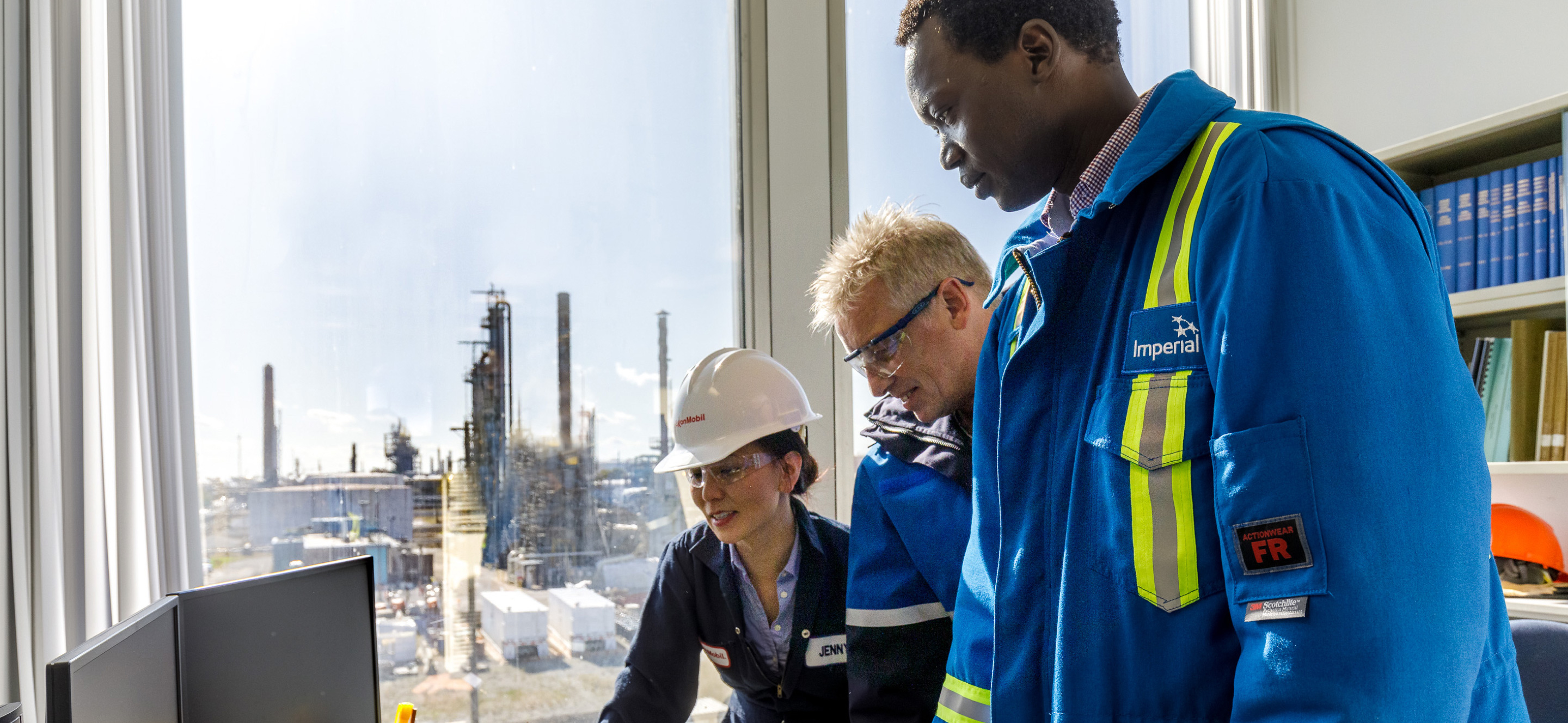 Jenny Seagraves and her team and partners at BASF. ExxonMobil employee.