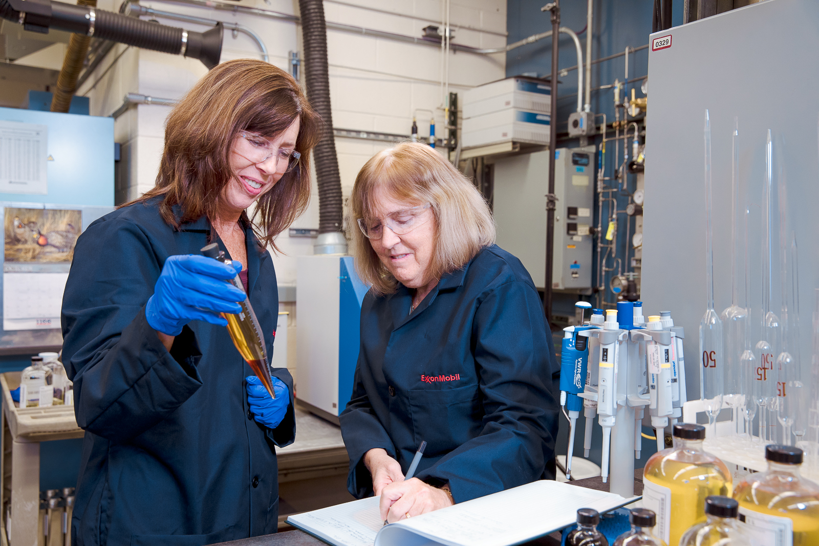 Barb Whittaker and Joan Axelrod worked as a team in the lab to create Synergy fuels.