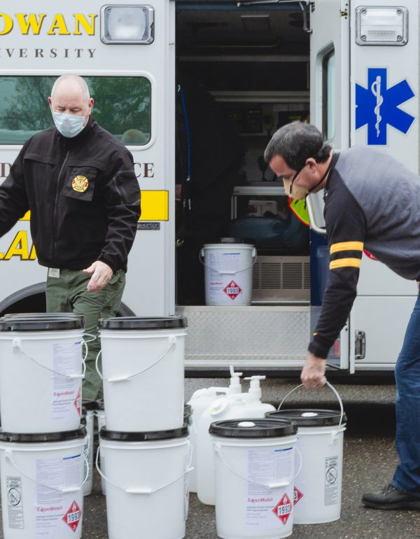Special delivery: Supplying sanitizer to frontline professionals